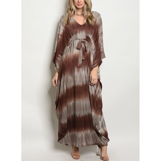JED Women's Tie Dye Dolman Sleeve Jersey Maxi Dress (More options available)