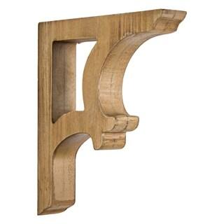 American Art Decor Wooden Corbels Shelf Brackets Farmhouse Decor (Set of 2 - Brown)