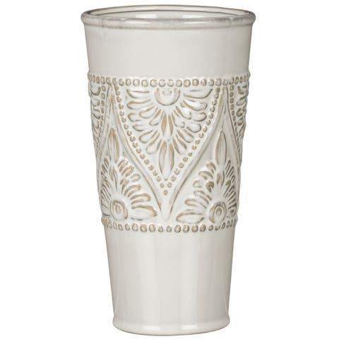Floral Pattern Decorative Pot-Set of 2