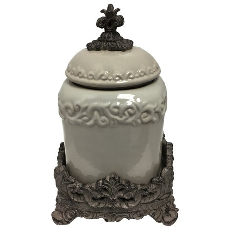Ornamental Ceramic Urn with Lid