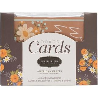 "Pebbles A2 Cards W/Envelopes (4.375""X5.75"") 40/Box"
