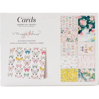 "Crate Paper A2 Cards W/Envelopes (4.375""X5.75"") 40/Box"