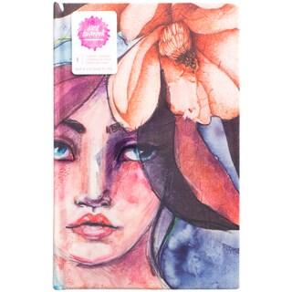 "Jane Davenport Mixed Media Canvas Cover Journal 9""X6"""