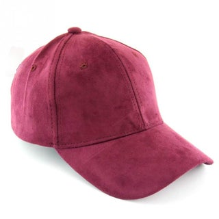 Faux Suede Baseball Caps (Option: Red)