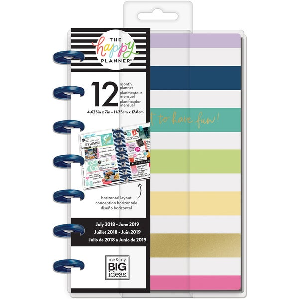 Happy Planner 12-Month Dated Mini Planner 5 125X7 5