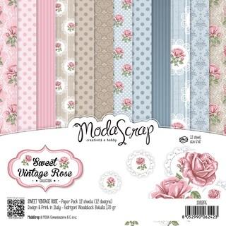 "Elizabeth Craft ModaScrap Paper Pack 6""X6"" 12/Pkg"