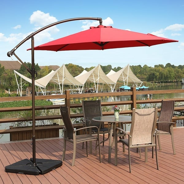 Exceptionnel Weller 10 Ft Offset Cantilever Hanging Patio Umbrella