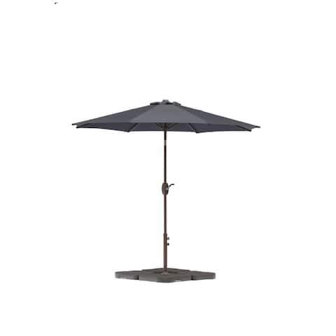 Amada 9 Ft Aluminum Patio Umbrella with Tilt & Crank