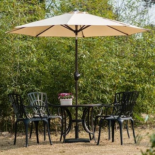 amada 9 ft aluminum patio umbrella with tilt crank by westin outdoor - Rectangle Patio Umbrella