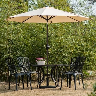 Outdoor Umbrella With Lights Size 9 ft patio umbrellas for less overstock amada 9 ft aluminum patio umbrella with tilt crank by westin outdoor 5 options workwithnaturefo