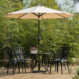 Link to Amada 9 Ft Aluminum Patio Umbrella with Tilt & Crank, Base Not Included Similar Items in Patio Umbrellas & Shades