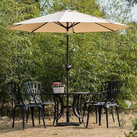 Amada 9 Ft Aluminum Patio Umbrella with Tilt & Crank by Westin Outdoor