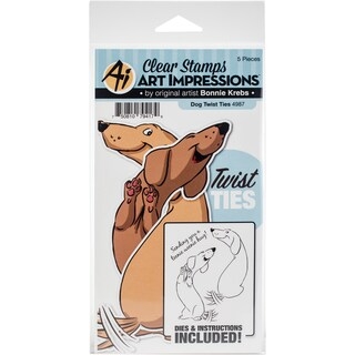 Art Impressions Twist Ties Stamp & Die Set