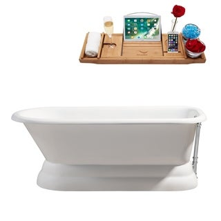 """66"""" Cast Iron R5140CH Soaking freestanding Tub with External Drain"""