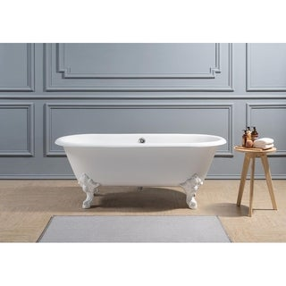 "69"" Cast Iron R5001WH-CH Soaking Clawfoot Tub with External Drain"