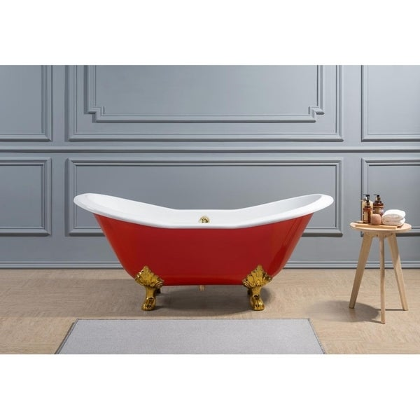 Modern Freestanding Cast Iron Soaking Tub Composition - Luxurious ...