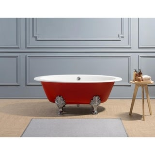 "65"" Cast Iron R5441-CH-CH Soaking Clawfoot Tub with External Drain"