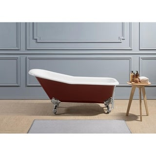 "66"" Cast Iron R5280-CH-CH Soaking Clawfoot Tub with External Drain"