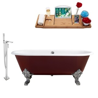 "Cast Iron Tub, Faucet and Tray Set 69"" RH5000CH-CH-140"