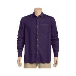 Men's Tommy Bahama Dobby Dylan Long Sleeve Shirt Blackberry Cordial