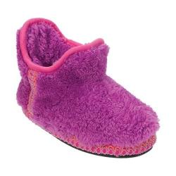 Girls' Dearfoams Pile Bootie Slippe Iris