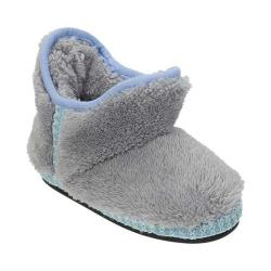 Girls' Dearfoams Pile Bootie Slippe Sleet
