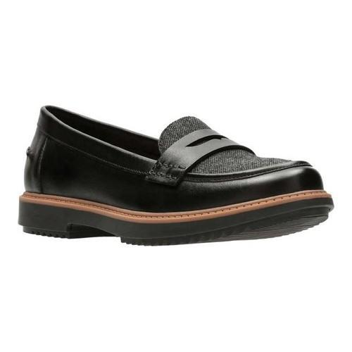 344e421eb9e Shop Women s Clarks Raisie Eletta Penny Loafer Black Full Grain  Leather Tweed - On Sale - Free Shipping Today - Overstock - 18158862