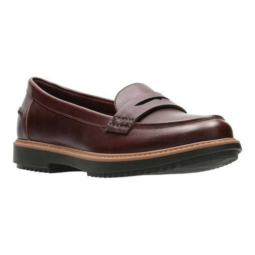 5379411eaf7 Shop Women s Clarks Raisie Eletta Penny Loafer Mahogany Full Grain Leather  - Free Shipping On Orders Over  45 - Overstock - 18158863