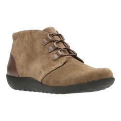 Women's Clarks Medora Sage Chukka Boot Olive Suede/Full Grain Leather