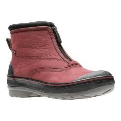 Women's Clarks Muckers Hike Boot Burgundy Nubuck/Textile