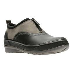 Women's Clarks Muckers Trail Slip-On Dark Grey Rubber/Nubuck/Textile
