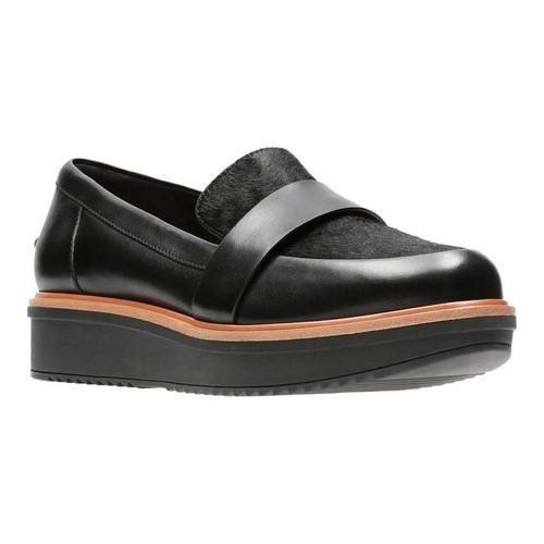 f897dd321b7 Shop Women s Clarks Teadale Elsa Loafer Black Combi Full Grain Leather -  Free Shipping Today - Overstock - 18158869