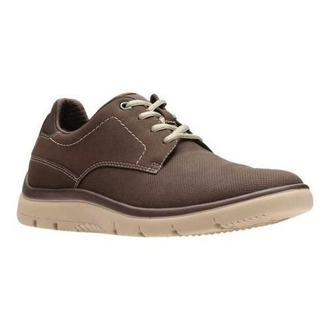 Men's Clarks Tunsil Plain Sneaker Brown Textile