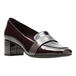 Women's Clarks Tealia Elva Pump Aubergine Patent Leather