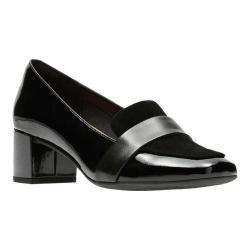 Women's Clarks Tealia Elva Pump Black Patent Leather/Suede/Full Grain