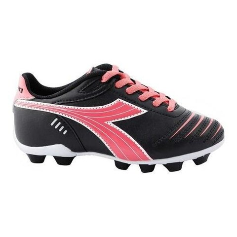 Children's Diadora Cattura MD Soccer Cleat Black/Pink