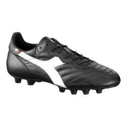 Men's Diadora Brasil LT MD Soccer Cleat Black/White