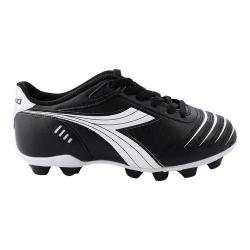 Children's Diadora Cattura MD Soccer Cleat Black/White