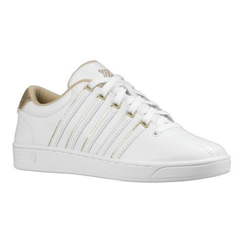 25691b6bad4bd3 Shop Women s K-Swiss Court Pro II SP CMF Shoe White Champagne - Free  Shipping Today - Overstock - 18159075