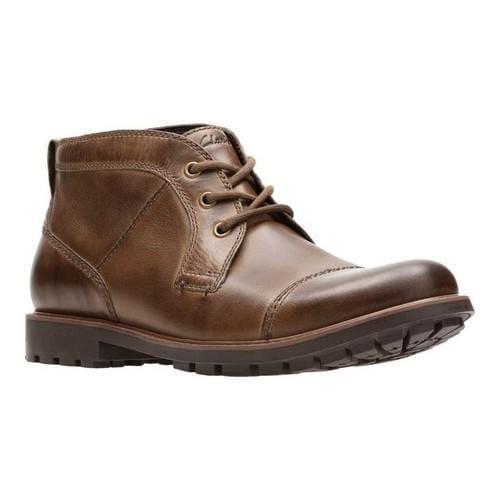 Men's Clarks Curington Top Chukka Boot Brown Full Grain Leather