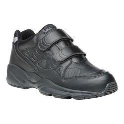 Women's Propet Stability Walker Strap Shoe Black Full Grain Leather