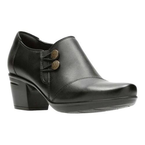Women's Clarks Emslie Warren Bootie Black Full Grain Leather