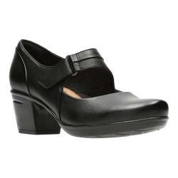 Women's Clarks Emslie Lulin Mary Jane Black Full Grain Leather
