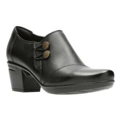 Women's Clarks Emslie Warren Bootie Black Full Grain Leather - Thumbnail 0