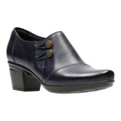 Women's Clarks Emslie Warren Bootie Navy Full Grain Leather