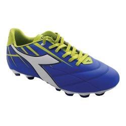 Women's Diadora Forte MD LPU Soccer Cleat Electric Blue/White/Lime