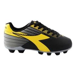 Children's Diadora Ladro MD Soccer Cleat Black/Yellow/Grey