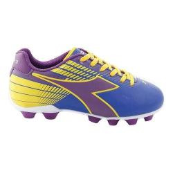 Children's Diadora Ladro MD Soccer Cleat Blue/Purple/Yellow