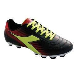 Women's Diadora Mago R LPU Soccer Cleat Black/Lime/Red