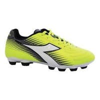 Women's Diadora Mago R LPU Soccer Cleat Yellow Fluo/Silver/White